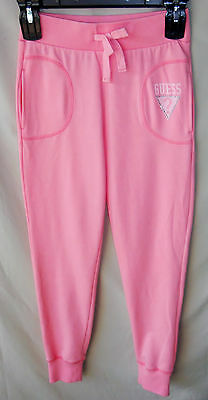 GUESS French Terry Coral Active Pant with Studs & Pockets GIRL SIZE 10/12 NWT