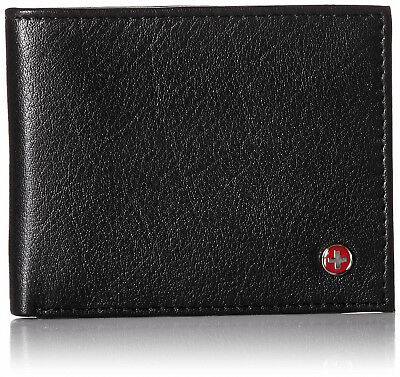 Alpine Swiss Men's RFID Blocking Leather Wallet Slim Outer Card Slot Thin Bifold