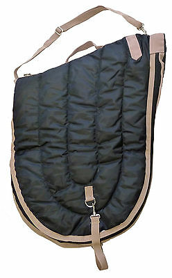 English Horse Saddle Carrier Travel Case Bag All Purpose Saddle Quilted Black