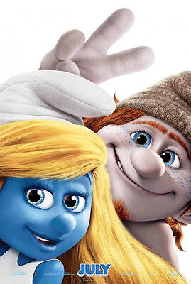 Smurfs 2 Advance B Double Sided Original Movie Poster 27x40 inches
