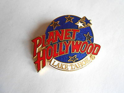 Vintage Planet Hollywood Lake Tahoe NV Resort Casino Enamel Pinback Pin