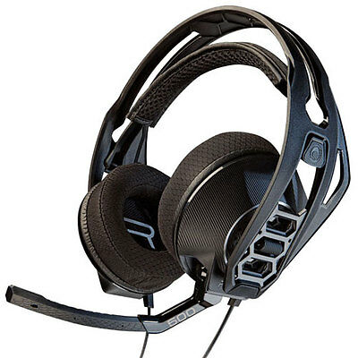 New Plantronics Rig 500 Stereo Gaming Pc Headset Over Head Headphones Black