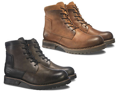 39746d026 CAT Caterpillar Lenox Leather Casual Ankle High Mens Fashion Boots UK6-12