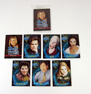1999 Inkworks Buffy The Vampire Slayer Season 2 Sealed Cello Promo Card Set (7)