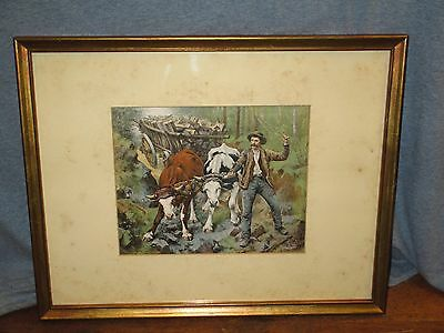 """""""On The Mountain"""" by H. Umbricht - Framed Litho Print /    JY 154"""