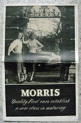 MORRIS CAR RANGE Sales Brochure 1951-2 #NEL190 MINOR Oxford SIX Newspaper Format