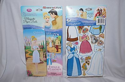 Disney Princess Magnetic Paper Dolls Cinderella Travel Tin Collector New Niw