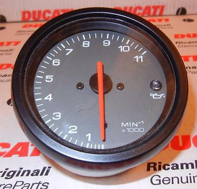 2000-02 Ducati ST2 750SS Monster 11,000 RPM grey face white number tachometer  F