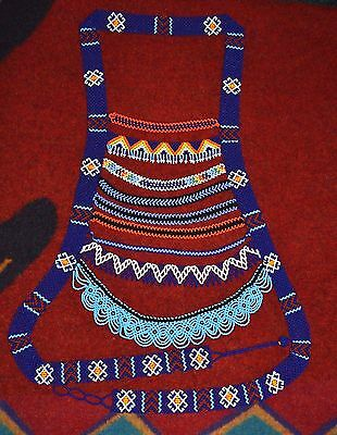 Glass Seed Bead Protection Necklace Upper Body Apron Belt, Colombian Beadwork