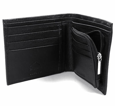 Alpine Swiss RFID Blocking Mens Leather Wallet Zipper Coin Purse Card Slots Case