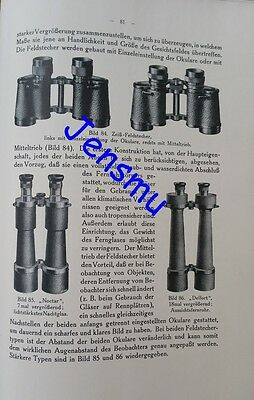 5 Edition German Book CARL ZEISS HISTORY and PRODUCTS /C1925