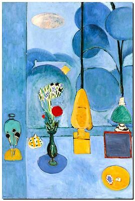"Henri Matisse CANVAS PRINT The Blue Window Painting poster 24""X18"""