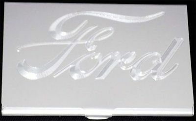 FORD Car Company Logo Engraved Business ID Credit Card Case Holder Gift BUS-0289
