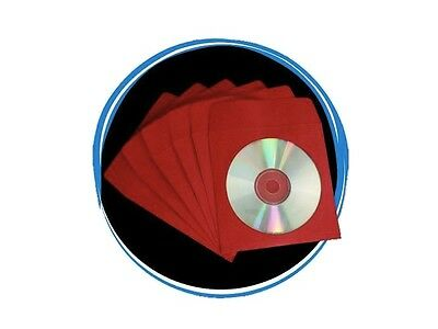 1000 RED CD DVD R Paper Sleeve Envelope with Window & Flap 100g