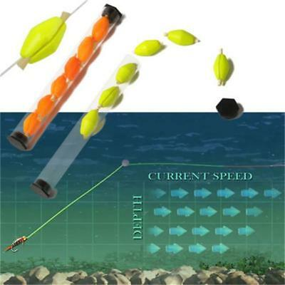 6Pcs Per Tube Fish Float Foam Strike Indicator For Fly Fishing Tube Plastic LA