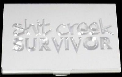 Sht creek survivor funny engraved business card case patch holder t creek survivor funny engraved business card case patch holder gift bus 0281 colourmoves