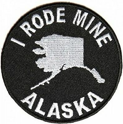 I RODE MINE ALASKA New Motorcycle Embroidered MC Club Biker Vest Patch PAT-3880