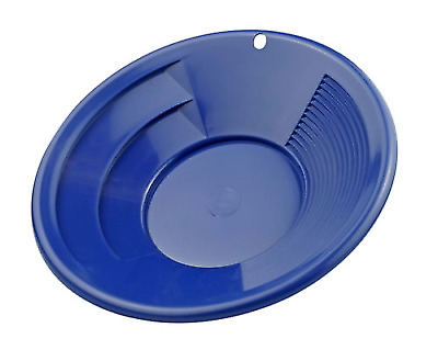 8 in Blue Gold Panning Nugget Sluicing Pan with Dual Riffles