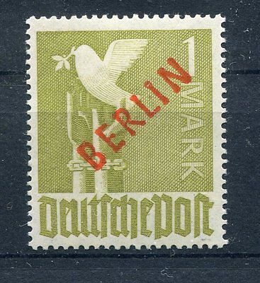 Berlin Mi.Nr.:  33 Rot-Aufdruck 1 Mark ** (10421)