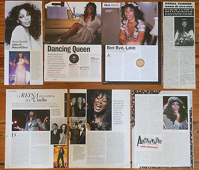DONNA SUMMER clippings 1970s/10s magazine articles sexy photos cuttings