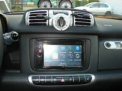 Doppel - din Double Radio faceplate Smart ForTwo 451 Facelift from 10/2010 black