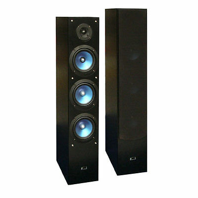 2x hifi stereo heimkino stand lautsprecher subwoofer 4. Black Bedroom Furniture Sets. Home Design Ideas