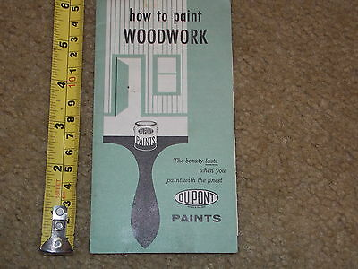 Rare Old Vintage Advertisment How To Paint Woodwork Du Pont