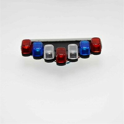 1:26 Vector Vision Painted Lightbar For Police Diecast Car Model Blue Red Clear