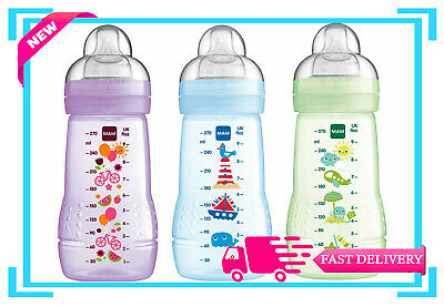 MAM Bottles 270ml 1pk, 2pk (Available Multi-Color)