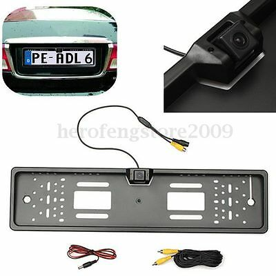 170° HD Car Rear View Reverse Camera Europe License Plate Parking Night Vision