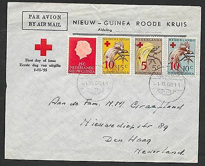 Netherlands New Guinea covers 1955 RED CROSS FDCcover to The Hague