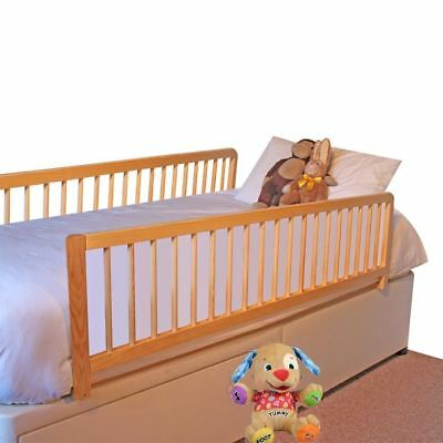 Safetots Extra Wide Double Sided Wooden Childrens Bedguard Natural Bed Rail