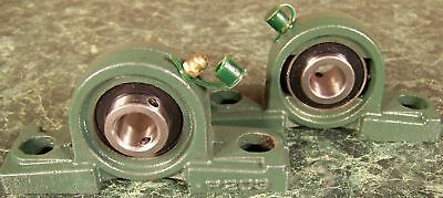 "2pc 5/8"" BALL BEARING BLOCK UNITS mounting shaft Heavy Duty Steel Construction"