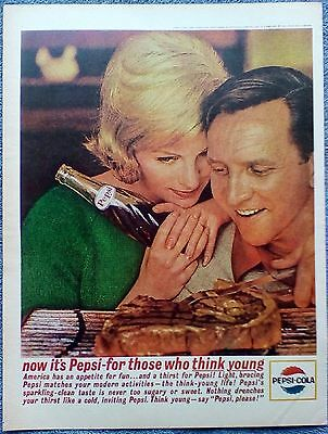 1963 Pepsi Cola Couple Watching Steak Cook Grill America Has An Appetite ad