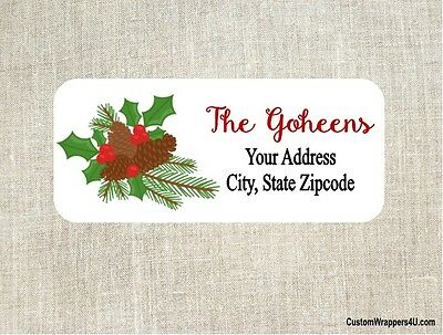 Christmas Holiday Return Address Labels Personalized