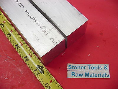"2 Pieces 1-1/2""x 1-1/2"" ALUMINUM 6061 SQUARE BAR 24"" long T6511 Flat Solid Stock"
