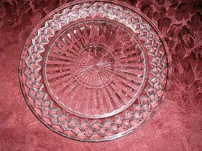 Lovely Glass Patterned Cake Platter