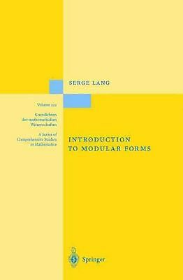 Introduction to Modular Forms by Serge Lang (English) Hardcover Book Free Shippi