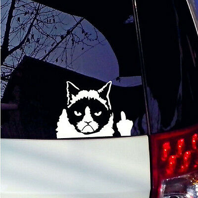 Funny Grumpy Cat For JDM Auto Car/Bumper/Window Vinyl Decal Sticker Decals