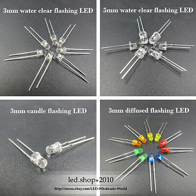 3mm/5mm Flicker/Flickering/Candle flash/Flashing blink/blinking LED