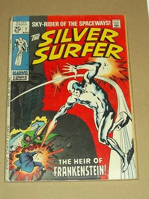 Silver Surfer #7 G+ (2.5) Marvel Comics August 1969 Frankenstein*