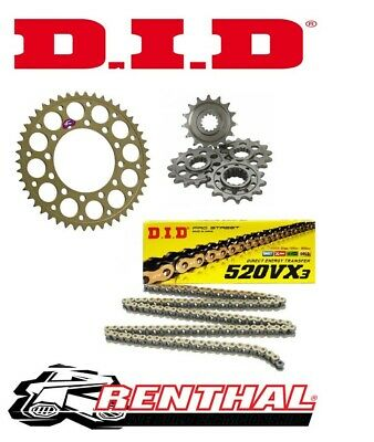 Renthal / DID Chain & Sprocket Kit to fit Kawasaki ZX6R 2007-2012
