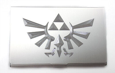 Zelda Triforce Engraved Business ID Credit Card Patch Case BUS-0439
