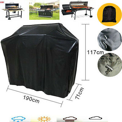 Extra Large Heavy Duty 190cm BBQ Cover Waterproof Barbecue Garden Patio Grill