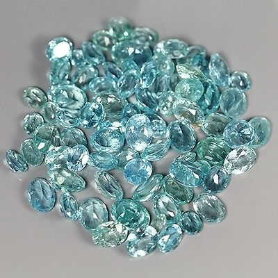 40.09 Cts Natural UNHEATED Rare Greenish Blue APATITE (81 Pcs) Oval Gem Lot !!