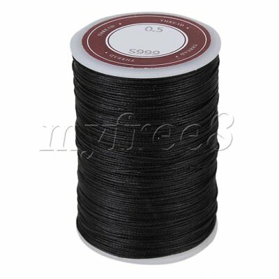 0.5mm Waxed Polyester Round Twisted Cord String Craft DIY Thread Line Black