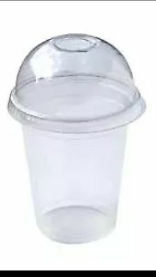 500 PC Plastic cups Cold cups and dome lids 18 OZ 540ml 250 cups + 250 lids