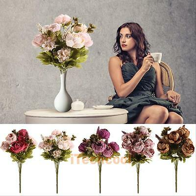 Artificial Head Real Latex Touch Flowers For Home Design Wedding Bouquet Decor