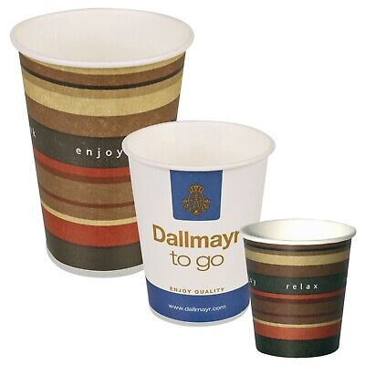 100-1000 Disposable Hot Drink Takeaway Paper Cups Tea Coffee 6oz 7oz 10oz 12oz