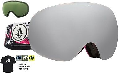 NEW Electric EG3 Volcom Silver Mirror mens snowboard goggles +free lens Msrp$220